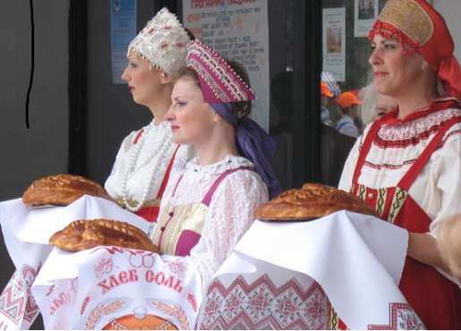 Russian Traditions: Bread And Salt Welcome Ceremony