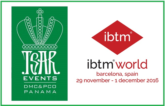 Tsar Events Panama DMC & PCO will be at IBTM World at stand K47 together with other members of Global DMC Alliance.